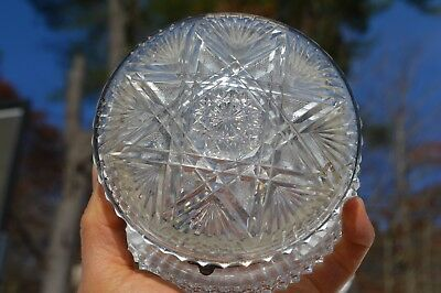 Beautiful Antique Brilliant Fancy Crystal Cut Glass Vanity/Dresser Box