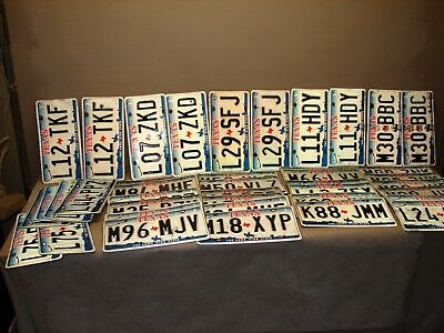 lot of 40 vintage Texas license plates License Plates matching pairs