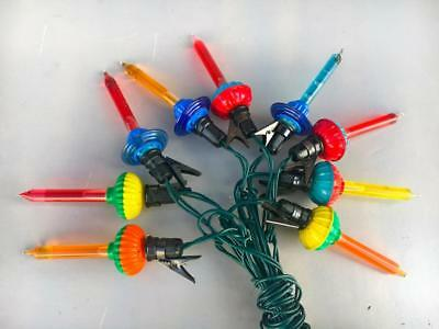Vintage Christmas Bubble Lights ~LOT OF 9 LIGHTS ~12 ' EXTENSION~WORKING WELL