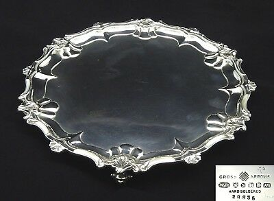Antique William Hutton & Sons Salver Platter Serving Tea Tray Silver Plated