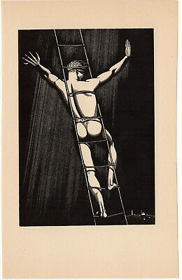 """Original Woodblock Print-ROCKWELL KENT """"Hail And Farewell""""1930-From """"N x E""""-Fine"""