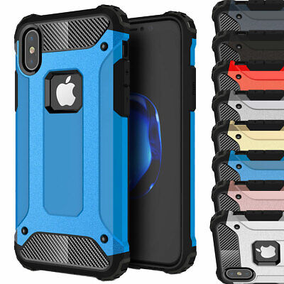 Shockproof Hybrid Silicone Rugged Case For Apple iPhone X 8 7 6s 6 Plus 5 5s SE