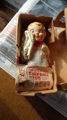 Vintage Mail in Campbell Kid Chef Doll 1967 With Shpping Box