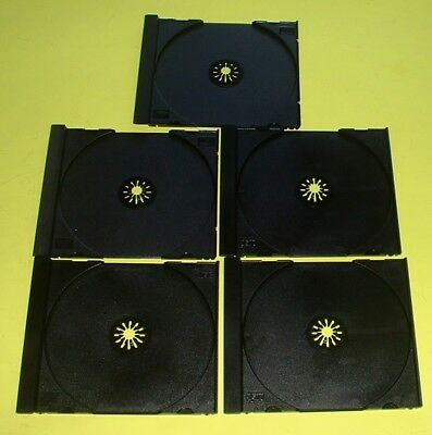 50 Replacement Trays Black Inserts For CD Music Games DVD Standard Jewel Cases