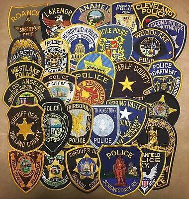 Lot Of 30 Police Sheriff Correction Patches Patch 25 Unused & 5 Used