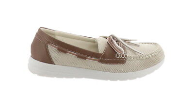 523b1800797 CLOUDSTEPPERS Clarks Boat Shoes Jocolin Vista Off-White 9.5M NEW A288106