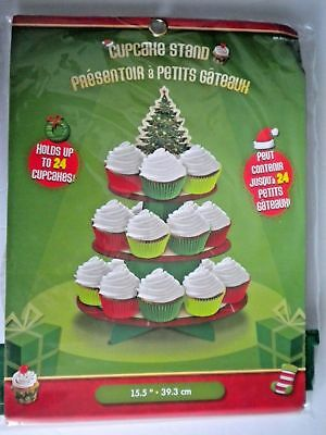 CHRISTMAS 3-TIER CUPCAKE STAND ~ Holds 25 Cupcakes or Treats ~ You Choose