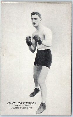 "Vintage BOXER Boxing Postcard ""DAVE ROSENBERG New York Middleweight"" c1920s"