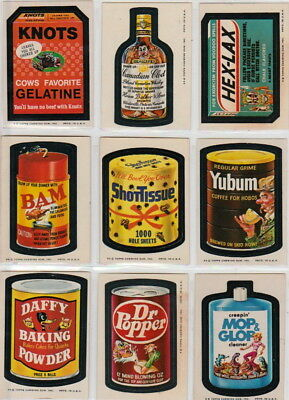1974 Wacky Packages Series 8 Sticker Set