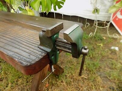 Vintage Wilton Anvil Vise Table Mount 1-3/4''jaw,cast Iron Bench Vice Made In Us