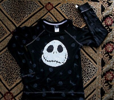 Girls' sz L (10-12) Nightmare Before Christmas Reverse Sequins Top - NEW