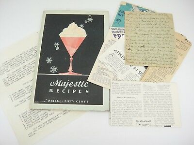 Vintage Majestic Recipes Refrigerator Advertising Cookbook 1931 Dorothy Loudon