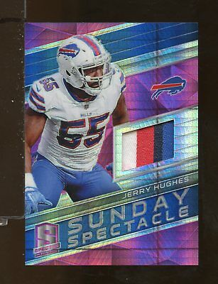 2018 Panini Spectra Sunday Spectacle Pink Jersey JERRY HUGHES 12/15 Bills (CR7)