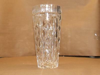 Vintage Signed Waterford Crystal Vase 8 inches Tall Diamond Cut Design