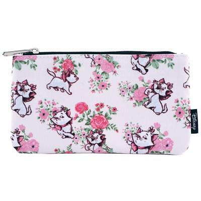 Loungefly Disney Aristocats Marie Floral Kitty Cat Pencil Case Cosmetic Bag