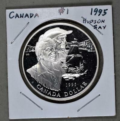 Canada 1995 Dollar Proof Sterling Silver Coin - Hudson's Bay Company