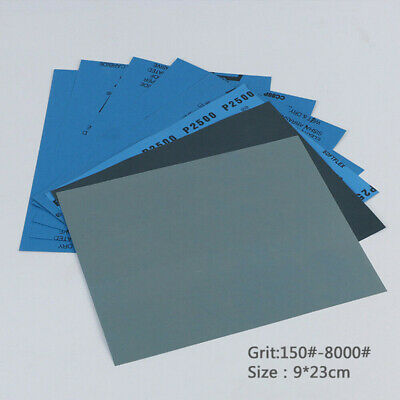 Wet and Dry Sandpaper Any Grit 150-8000 High Quality Sanding Paper Abrasive Tool