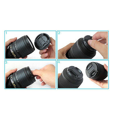 Durable 52 mm Front Lens Cap Center Snap on Lens cap for Nikon + Leash Hot*