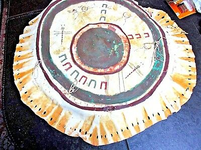 Spirit Dance Shield , Crow Indians given 1896 to Cheyenne Chief White Buffalo !