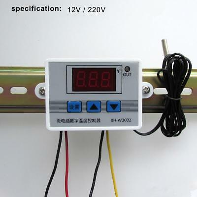 12/220V Digital Temperature Controller Thermostat Control Switch Probe 10A EV