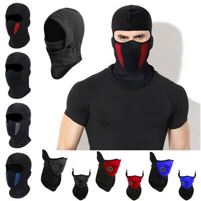 Windproof Outdoor Ski Cycling Motorcycle Balaclava Full Face Mask Neck Scarf Hat