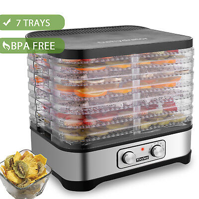 Food Dehydrator Preserver 7 Tray Fruit Vegetable Dryer Timer Temperature Control