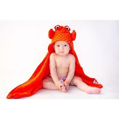 Zoocchini Baby Towel - Charlie the Crab