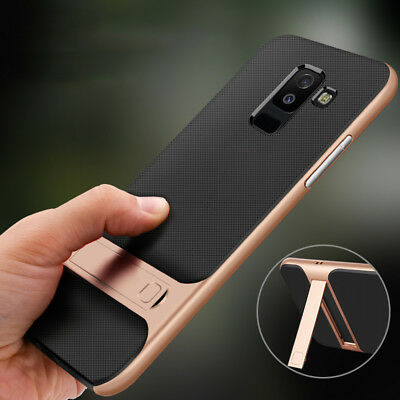 For Samsung Galaxy A6 A7 A8 2018 J8 J6 Shockproof Hybrid Stand Bumper Case Cover
