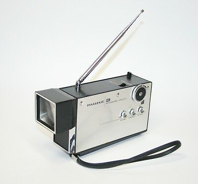 1970 Very Rare Working Panasonic Tr-001 First Micro Television Vintage Space Age
