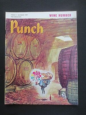 Vintage PUNCH Magazine 11 October 1967 Wine Number 1960s RETRO Adverts