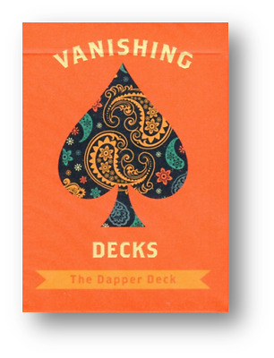 The Dapper Deck (Orange) Printed by USPCC by Vanishing Inc. Poker Spielkarten