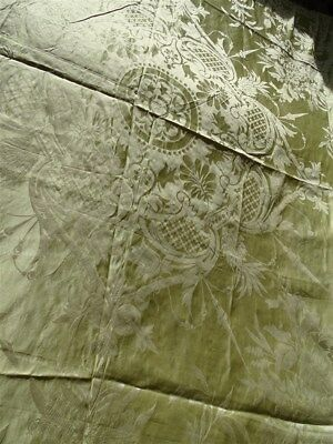 French antique Silk  Tilleul XIXth Bed Top Or Hanging Trimmings And Tassels