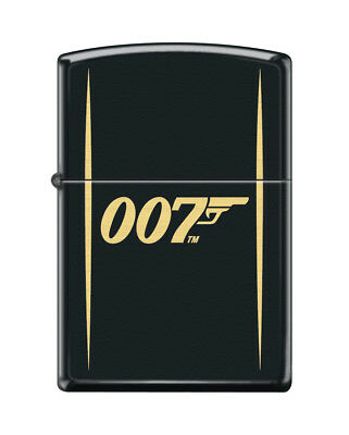 "Zippo ""007-James Bond"" Black Matte Finish Lighter, Full Size, 1812"