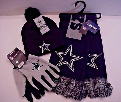 Dallas Cowboys Licensed NFL Authentic Team Logo Apparel Scarf Cap Gloves (BPBL)