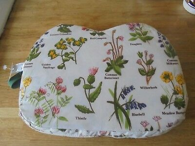 Decorative Floral Print Garden Kneeler Cushion Pad Pvc Coated New With Tags.