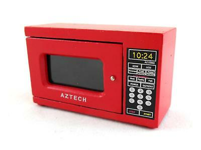 Dolls House Red Microwave Miniature Modern Kitchen Appliance Accessory