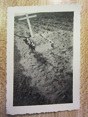 Original WWII German Army NCO Soldier's Grave Photo Eastern Front 1941