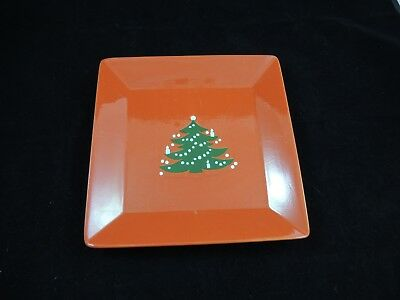 Waechtersbach Red Christmas Tree Square Plate Tray 10""