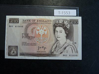 BANKNOTE GREAT BRITAIN 10 Pounds Value 65 00 T1553