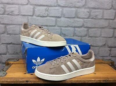 release date: 1d645 a8f9a Adidas Ladies Uk 6 Eu 39 1 3 Vapour Grey Chalk White Suede Campus Trainers