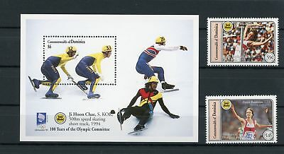 Dominica MiNr. 1880-81+Block272 postfrisch MNH Olympiade (Oly1375