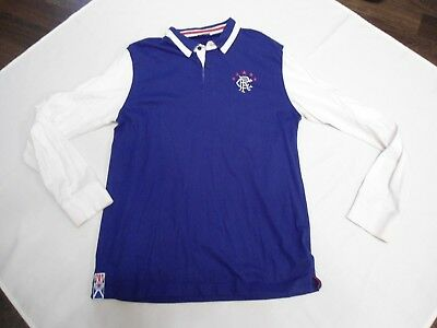 Glasgow Rangers Long Sleeved Football Shirt Size Large