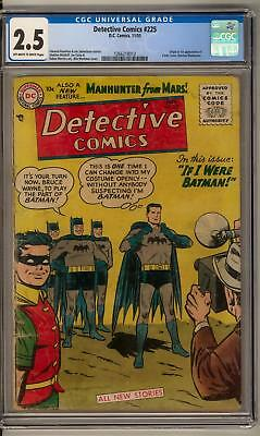 Detective Comics #225 CGC 2.5 (OW-W) Origin 1st Appearance of Martian Manhunter