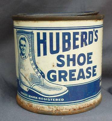 McMINNVILLE OREGON SHOE GREASE TIN-Huberd's- High Top Graphic Label-1910-1920