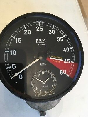 Jaguar Smirhs Rev Counter With Clock. Fully Working With Guarantee