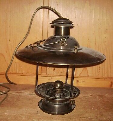 Deckenlampe Laterne Ouvrard & Villars Modell 1921 Messing