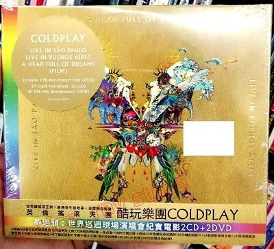 Coldplay Live In Buenos Aires Taiwan 2 CD 2 DVD OBI Digipak 2018 NEW
