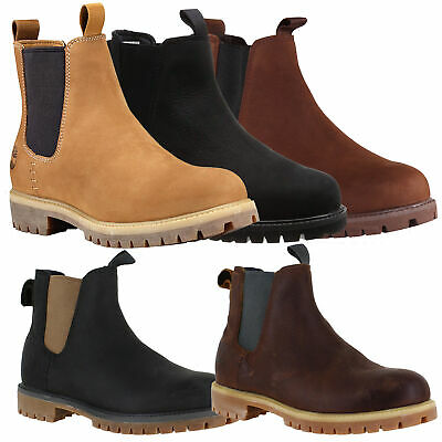 MENS TIMBERLAND 6 INCH Pull On Nubuck Leather Chelsea Boots