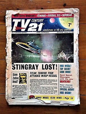 TV CENTURY 21 #1 January 23 1965/2065 Stingray/Daleks/Fireball xl5/Lady Penelope