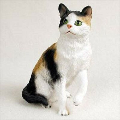 CALICO CAT kitty kitten HAND PAINTED FIGURINE Resin Statue COLLECTIBLE NEW